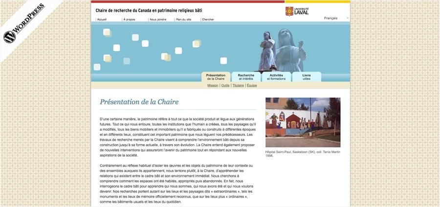 Chaire patrimoine - UL